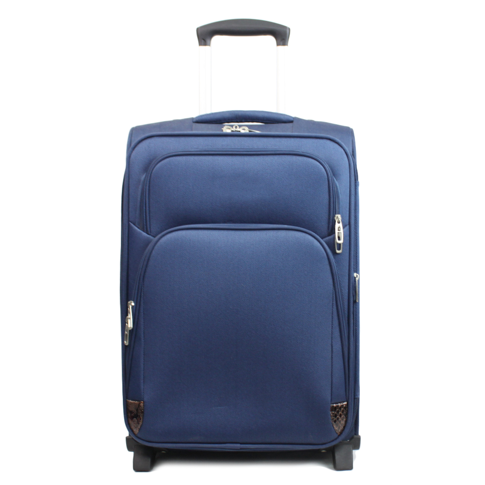 business fabric trolley soft polyester expandable luggage on wheel