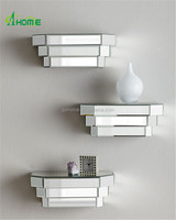 modern home decor wall mirror shelves