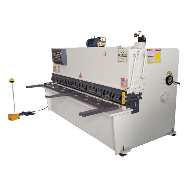 Elektrische scheren machine metalen plaat power cutter guillotine