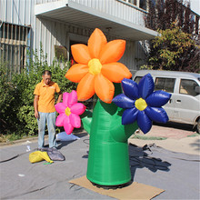 colorful flower/green plant with flowers inflatable for decoration