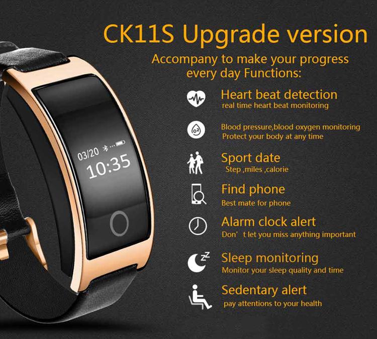 Original TOPWRX CK11S smart bracelet ip68 waterproof watches oled smart band bluetooth 4.0