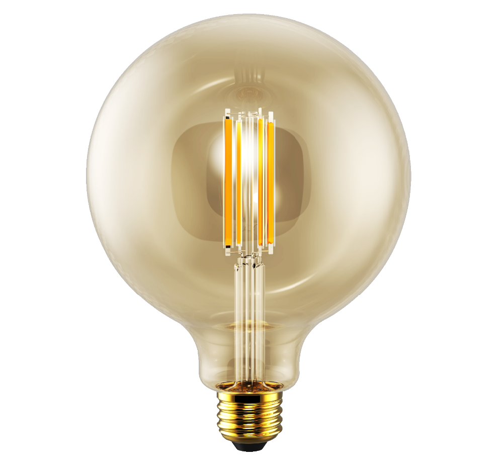 2w 4w G125 Filament Bulbs 2200k Amber Color For Indoor Ceiling ...