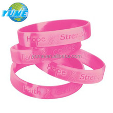 Adult&child Size Pink Ribbon Camo Breast Cancer Awareness Silicone Bracelet - Factory Directly