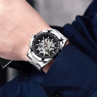 SEWOR High Quality Metal Watchband Automatic Mechanical Watch Mens Sports Watch