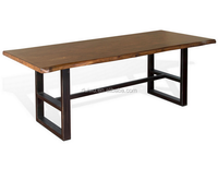 Foshan manufacturer quality pine/oak style solid furniture dining table