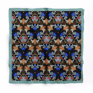 Magic Custom Print Square 100%Silk Scarf Handkerchief