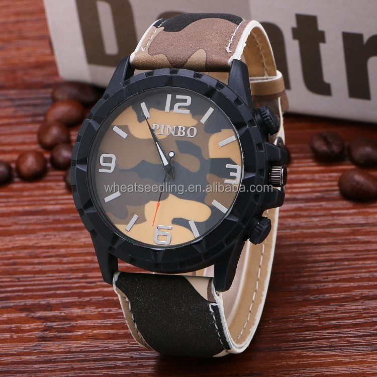 camouflage sport men international wrist brands watch vintage