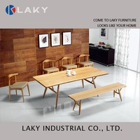 LK-DT1512 Light wooden table with wax oil