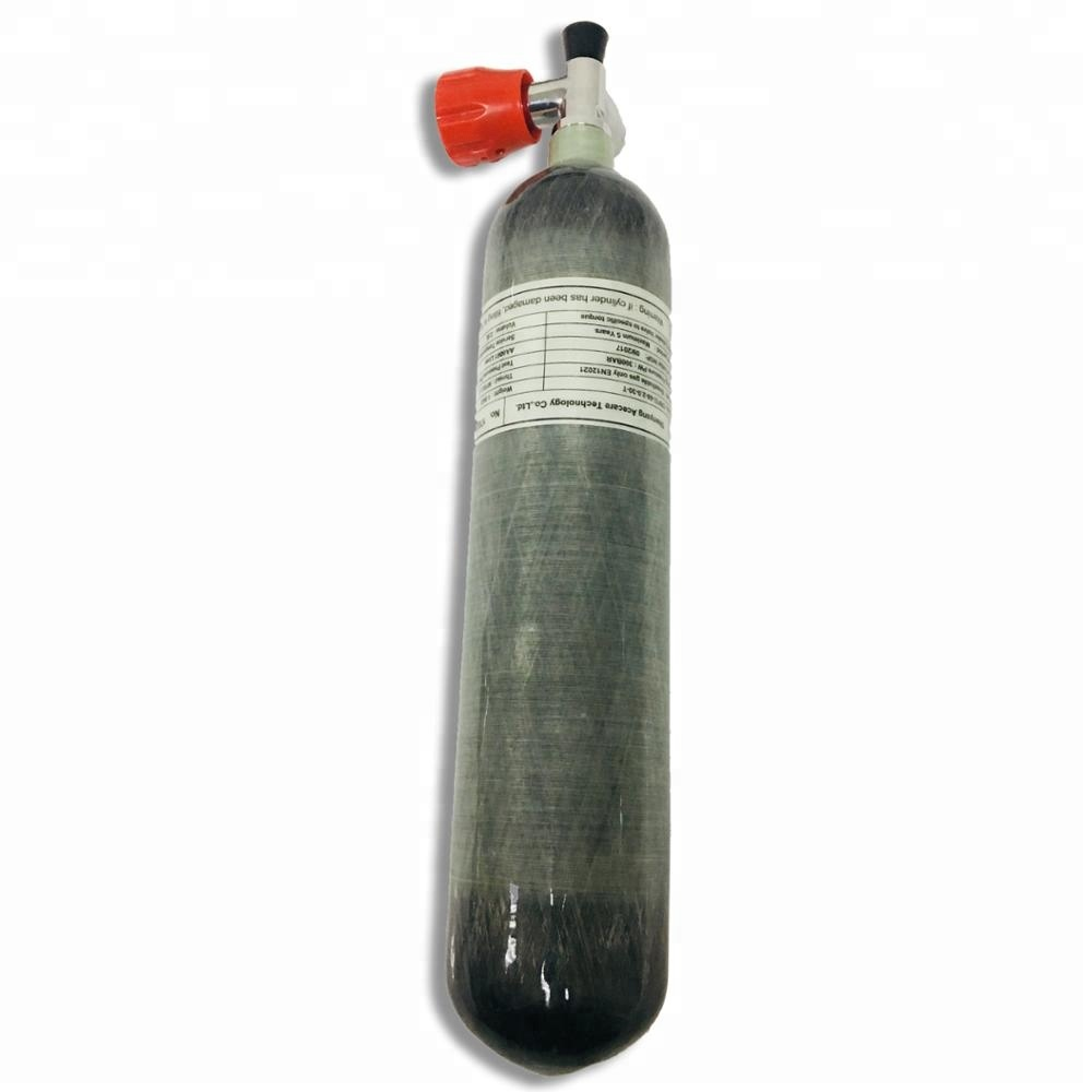 300bar 4500psi 2L carbon fiber cylinder with valve for pcp paintball tank or scuba diving tank фото