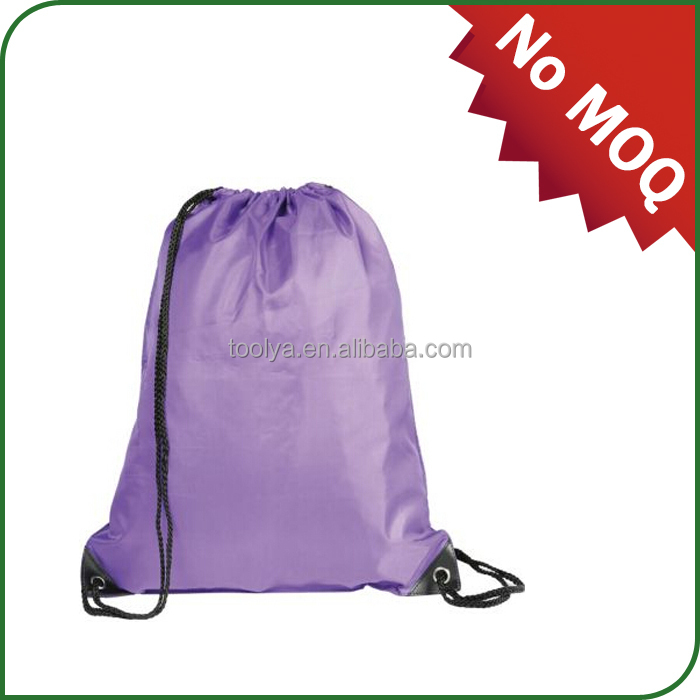 190T taffeta 210D Polyester drawstring bag for shoes