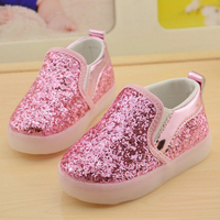 Girls Boys Shoes LED Glowing casual Toddler Shoes Leisure shoes comfortable pretty girls flattie