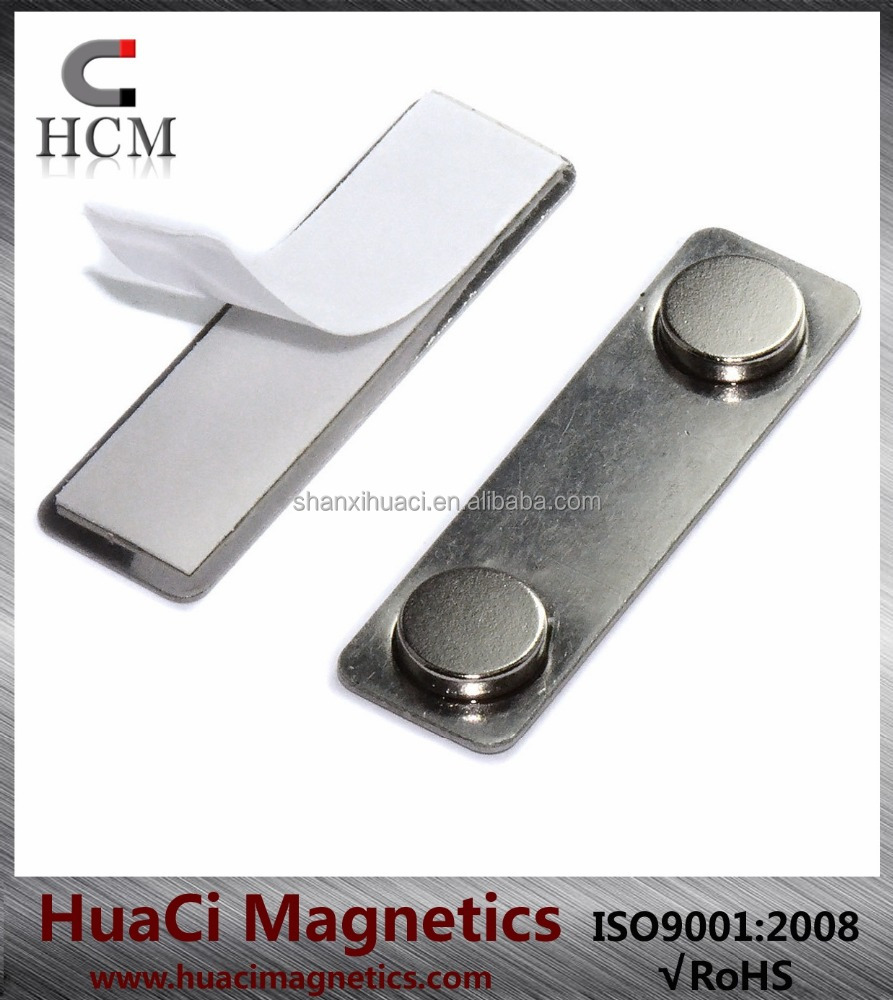 100 Set High Quality Reusable Name Badge Magnet BM-2Mag-1Strong Magnets & Stainless Steel