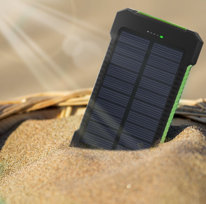 power bank 10000mah Waterproof Solar Battery Charger with soft rubber surface