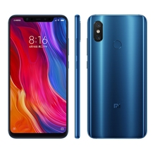 Xiaomi Mi 8 6 GB + 64 GB Globale Offizielle Version Smartphone 6,21 zoll AMOLED MIUI 9,0 Handys <span class=keywords><strong>celulares</strong></span> <span class=keywords><strong>blau</strong></span>