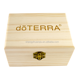Rustic wood material wooden essential oil box 15x15ml