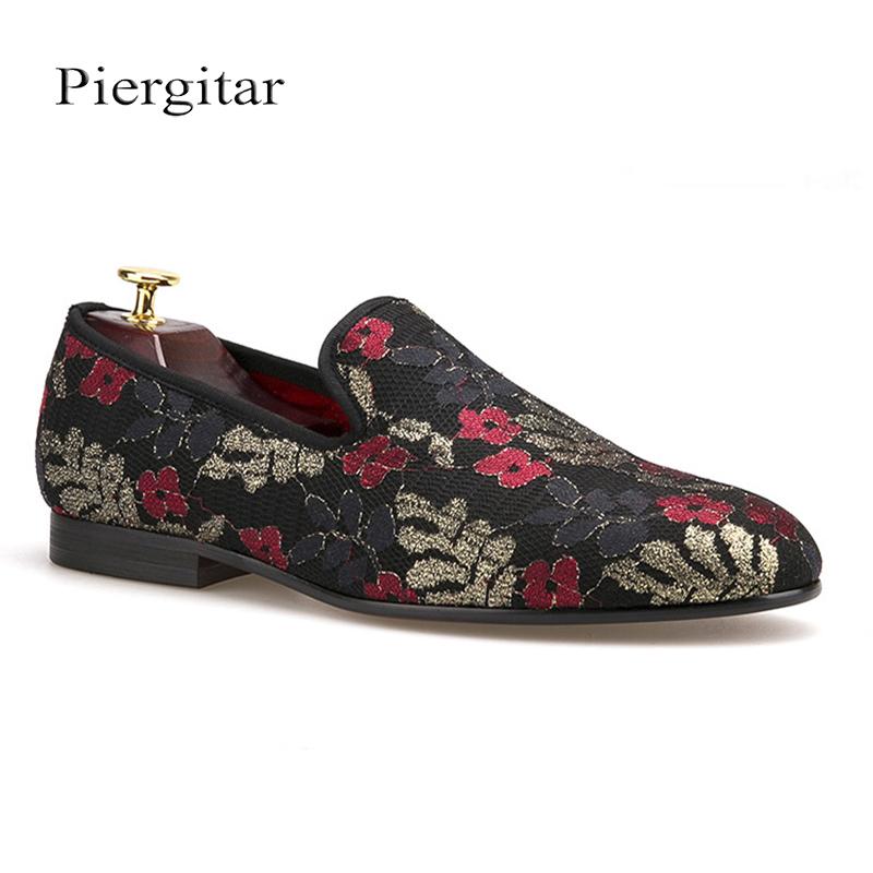8e9866c2c Nuevo con lentejuelas de tela de impresión de los zapatos de los hombres de  lujo de