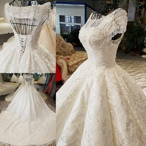 Pure White Latest Bridal Organza Luxury Elegant Bride Wedding Corset Dress Bondage