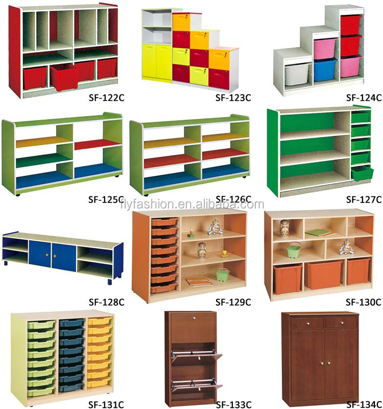 de madera muebles kindergarten juguetes de los niños gabinete de