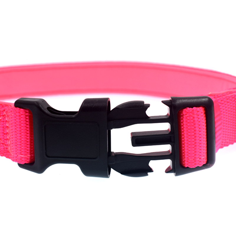 "Guanchang Adjustable Nylon Pet Collar Padded 1"" Large Dog Collar with Ring"