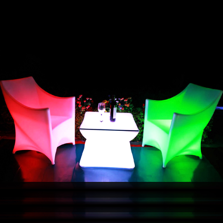 Commercial furniture/RGB LED furniture/Rechargeable battery furniture led coffee table for event