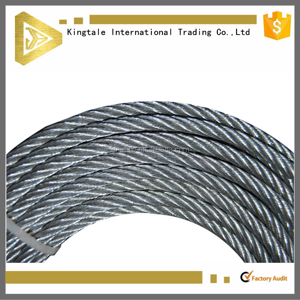 Top quality galvanized steel wire rope used wire rope for sale