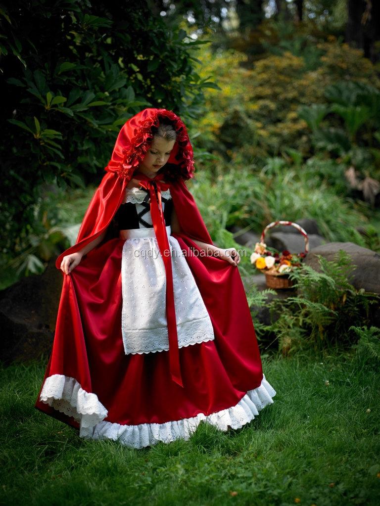 Women Fancy Little Red Riding Hood Like Costume Party Dress Cape  Fancy Dress