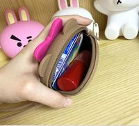 Cute silicone coin purse rubber mini wallet with zipper lock