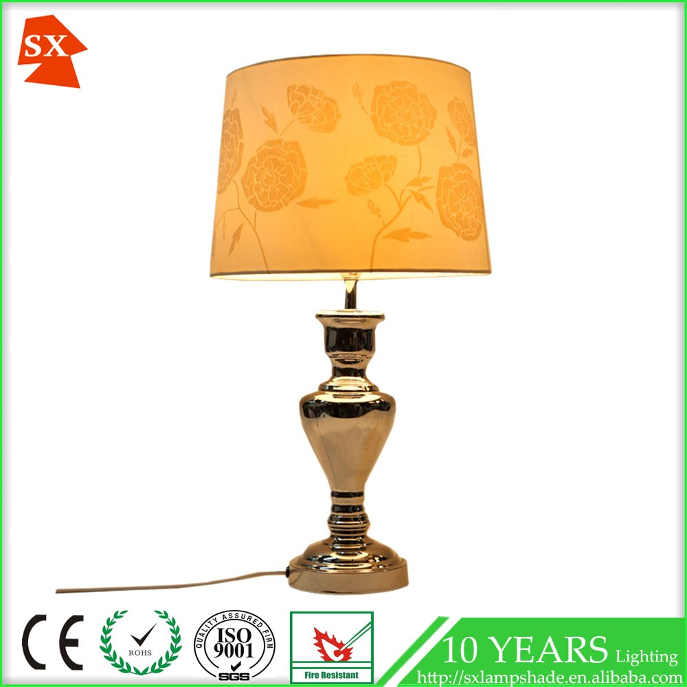 Decorative flocking fabric light cover wire frame table lampshade sx repair 01964 greentooth Gallery