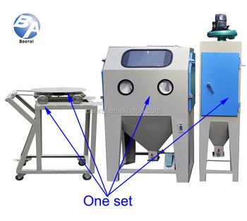 Dustless Turntable Blasting Cabinets Sand Blasting Machine