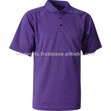 OEM 100% polyester polo shirts with stripe collar