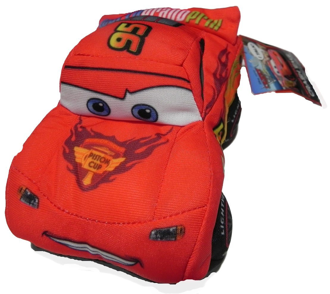Disney / Pixar CARS 2 Movie 5 Inch Talking Plush Crash Ems Lightning McQueen