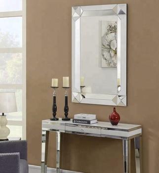 Modern European Living Room Luxury Mirrored Furniture Diamond
