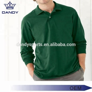 Wholesale custom fashion clothing manufacturers overseas long sleeves polo shirt