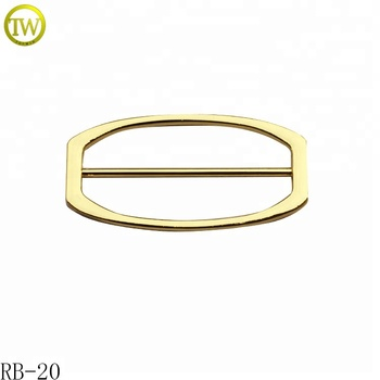 Blank hanbdags metal adjustable buckle gold plated metal buckle for garment