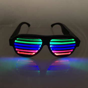be73cc5ac85 2018 New Arrival Shutter Shade LED Light up glasses for Kids and Adults