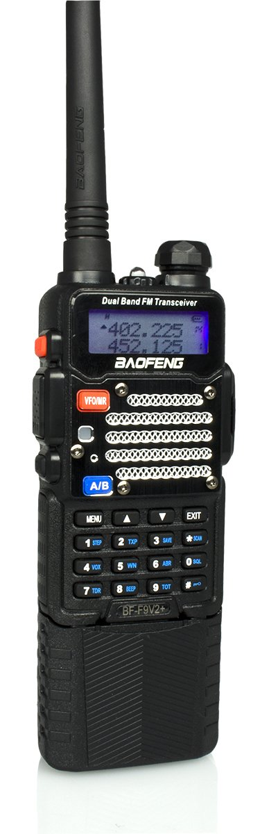 Baofeng Black BF-F9 V2+ HP 8Watt Tri-Power (1/4/8w) w/ 3800mah Extended Battery (USA Warranty) Dual-Band 136-174/400-520 MHz FM Ham Two-way Radio Transceiver - With Extended Battery, Antenna, Charger, and More