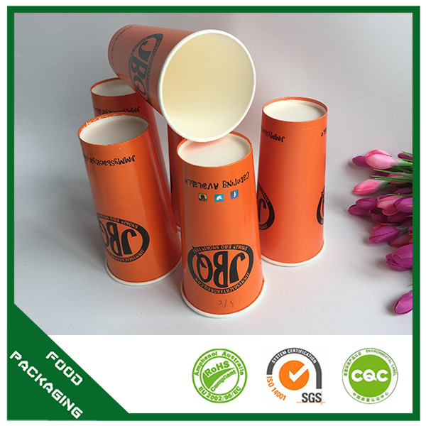 Design waxed disposable paper cup , paper cups coated PE