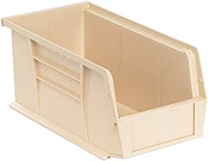 Quantum Storage Systems - QUS230IV - Quantum QUS230IV Plastic Storage Stacking Ultra Bin, 10-Inch by 5-Inch by 5-Inch, Ivory, Case of 12