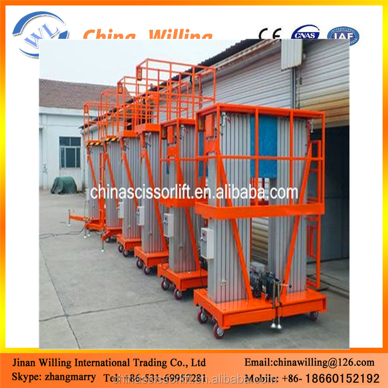 Hot sale double masts aluminum mast lift platform