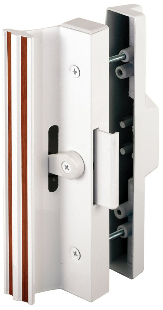 Slide Co 141845 Sliding Patio Door Handle Set 4 15 16 In Extruded Aluminum Clamp Latch White W Wood Grain