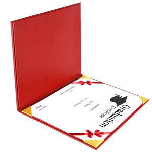 2018 Factory Custom Graduation Diploma Cover Leather Certificate Folder Holder