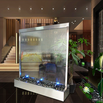 Indoor Artificial Glass Waterfall Hotel Decoration Buy