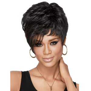 Synthetic hair wigs short female pixie cut wig for men
