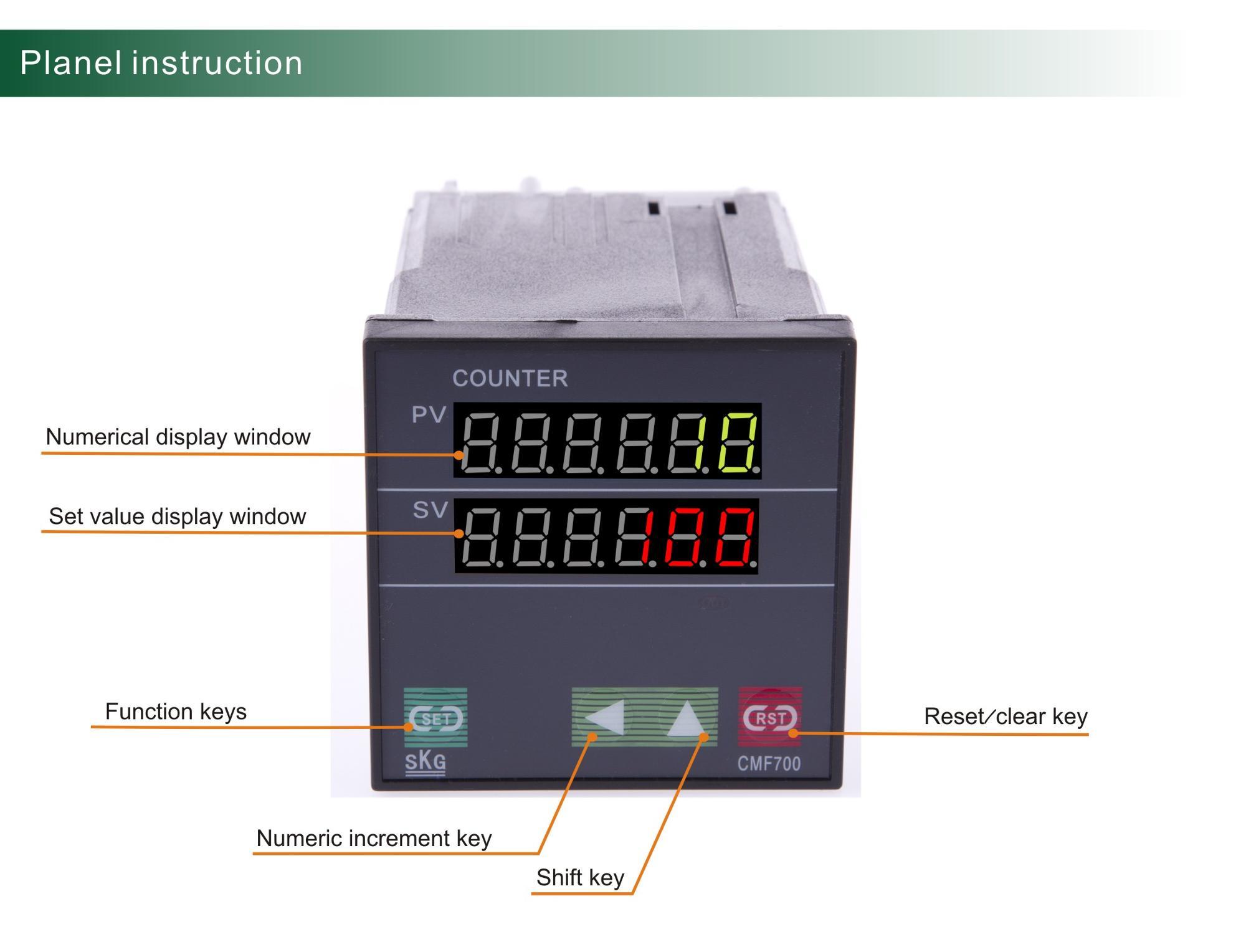 Cmf700 6 Digit Multifunction 12v Digital Voltmeter With Relay Output