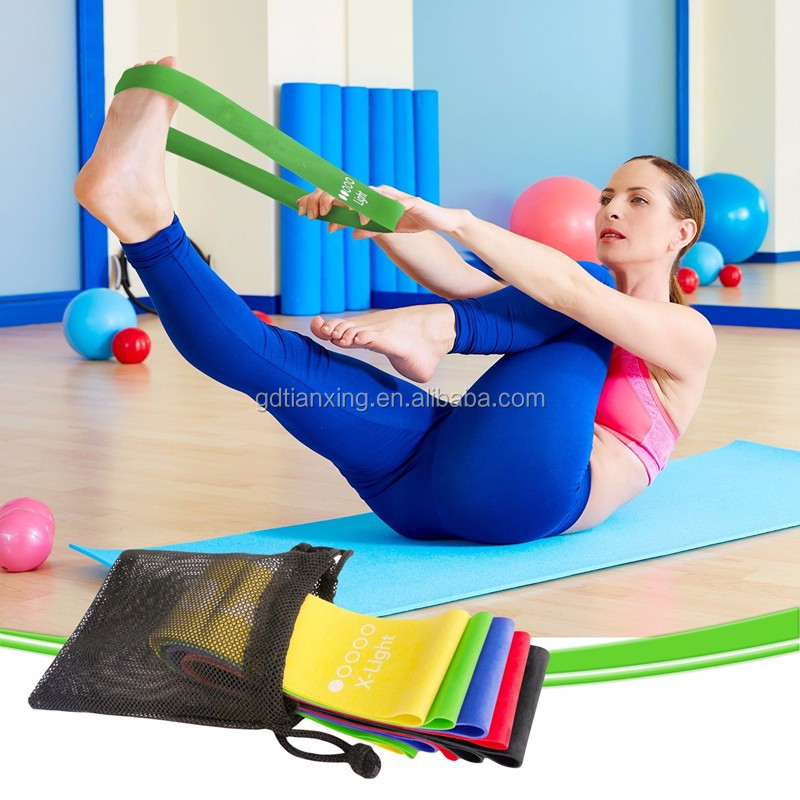 Latex exercise loop band/circular resistance band/yoga elastic band