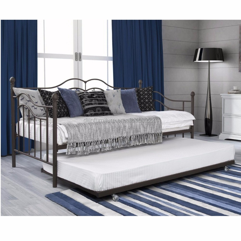 - Sofa Cum Bed Design Wrought Iron Sofa Metal Day Bed With Trundle
