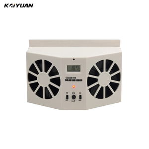 2W solar energy lower the temperature car exhaust fan for Auto cool