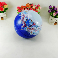 Christmas wholesale candy storage sphere tin can
