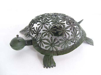 Wrought Iron Art Figurine, Yard Patio Porch Home Decor, Metal Turtle  Tortoise Small Garden