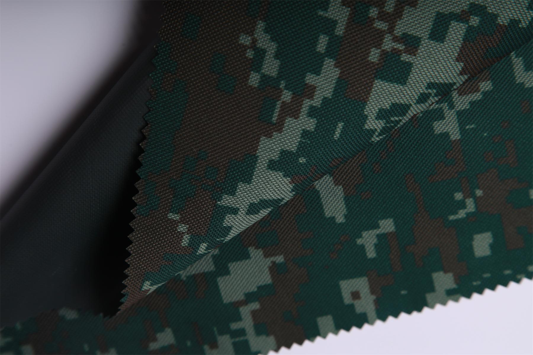 digital camouflage print heavy metal free diamond pvc coating nylon washed oxford fabric